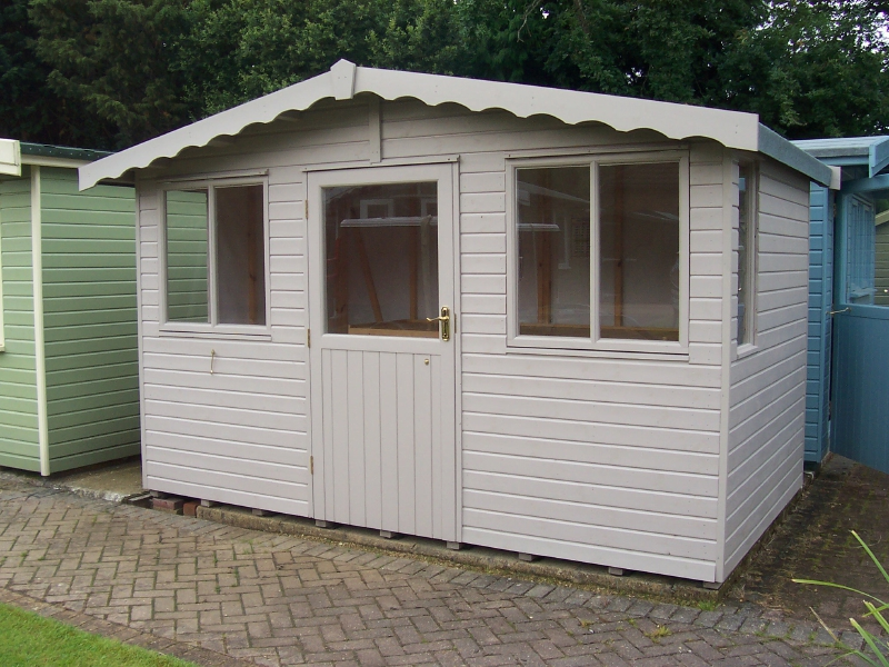 Iow garden shed centre avon apex shed range for Garden shed regulations