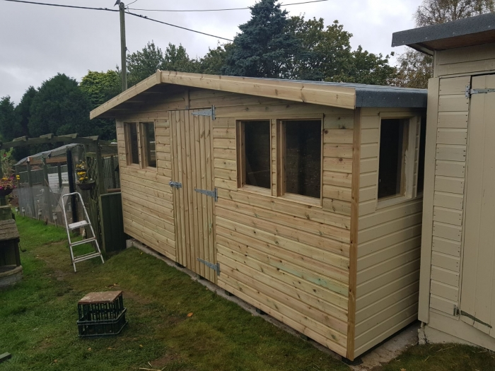 IOW Garden Shed Centre - economy reverse apex shed low ...