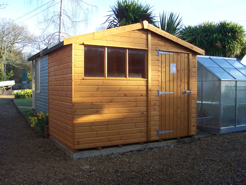 Iow garden shed centre wiltshire apex shed range for Garden shed regulations